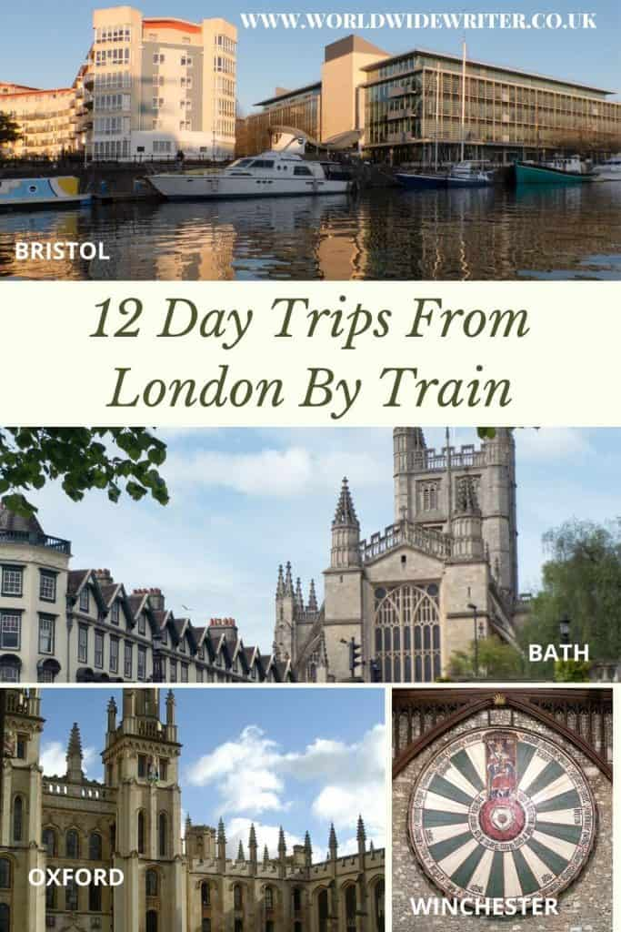 Places you can visit from London - pinnable image
