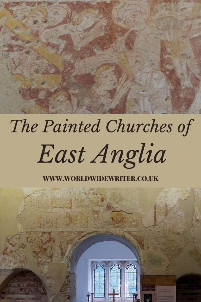 Wall paintings at Houghton-on-the-Hill