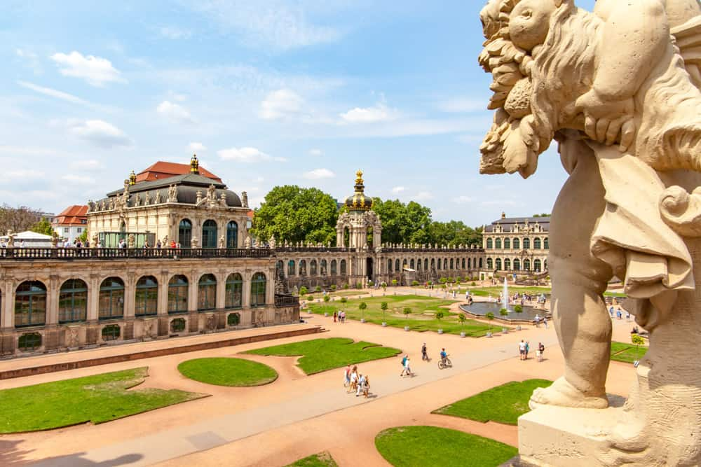 Formal gardens of the Zwinger Palace