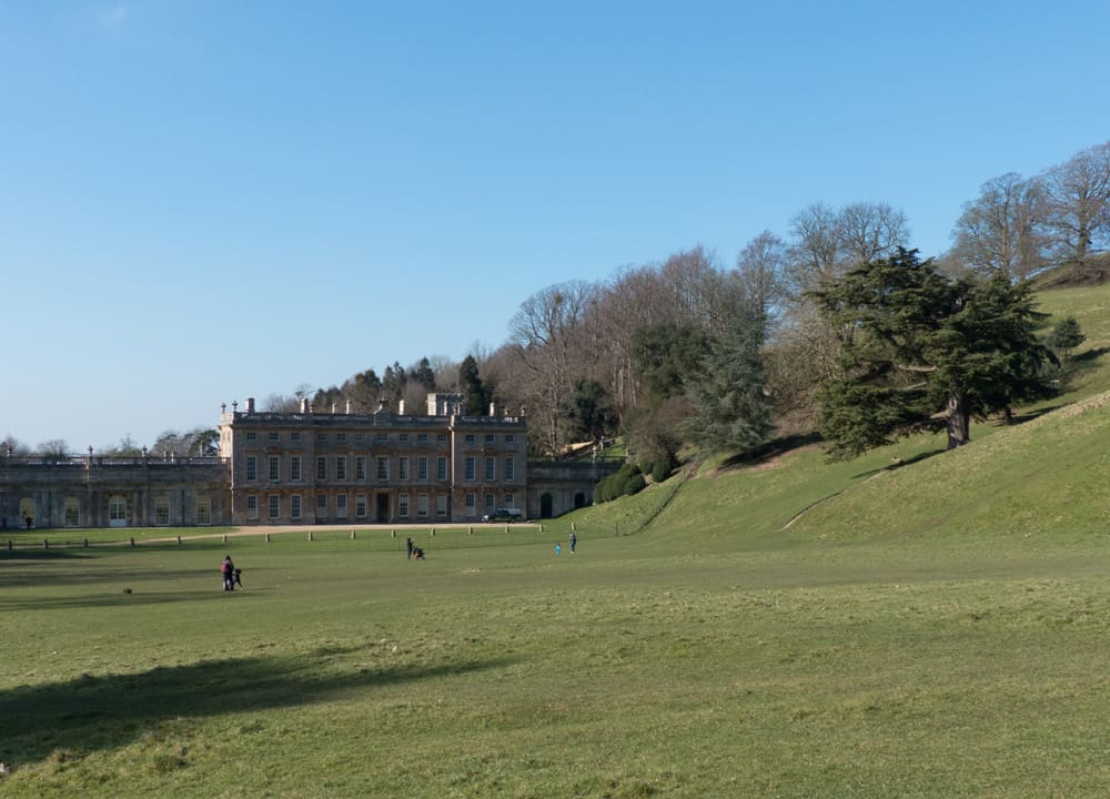 Dyrham Park - house and hilly garden
