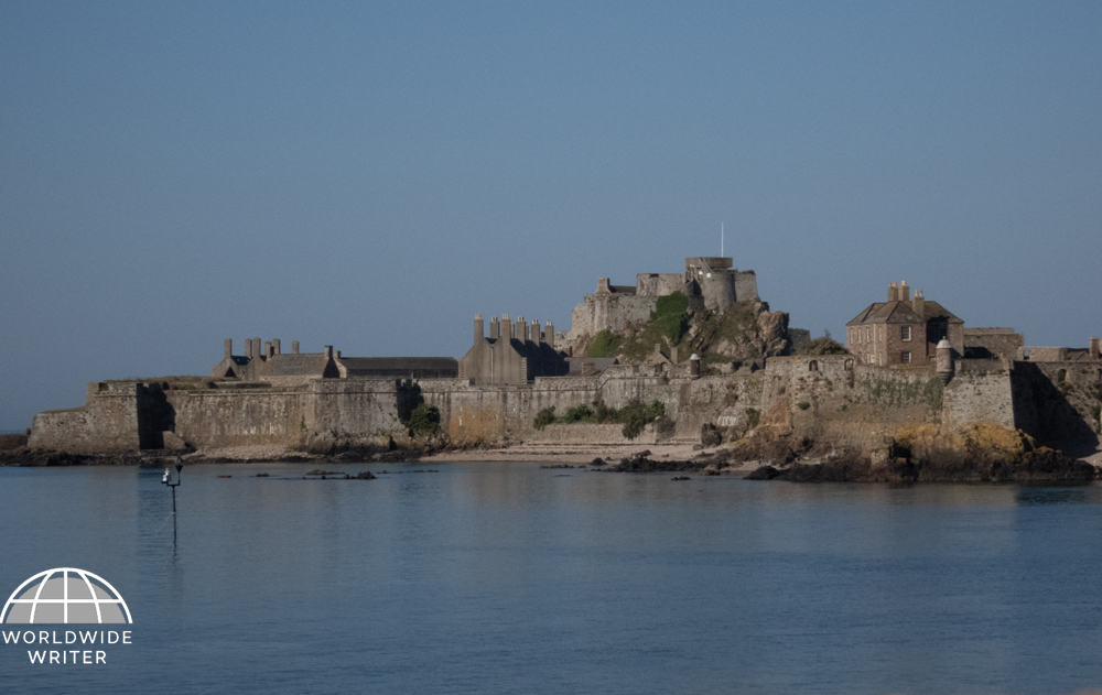 Castle on an island in the sea