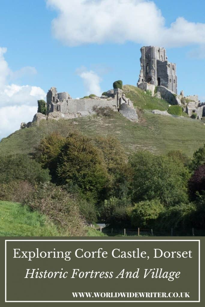 Pinnable image - mound and ruins at Corfe Castle