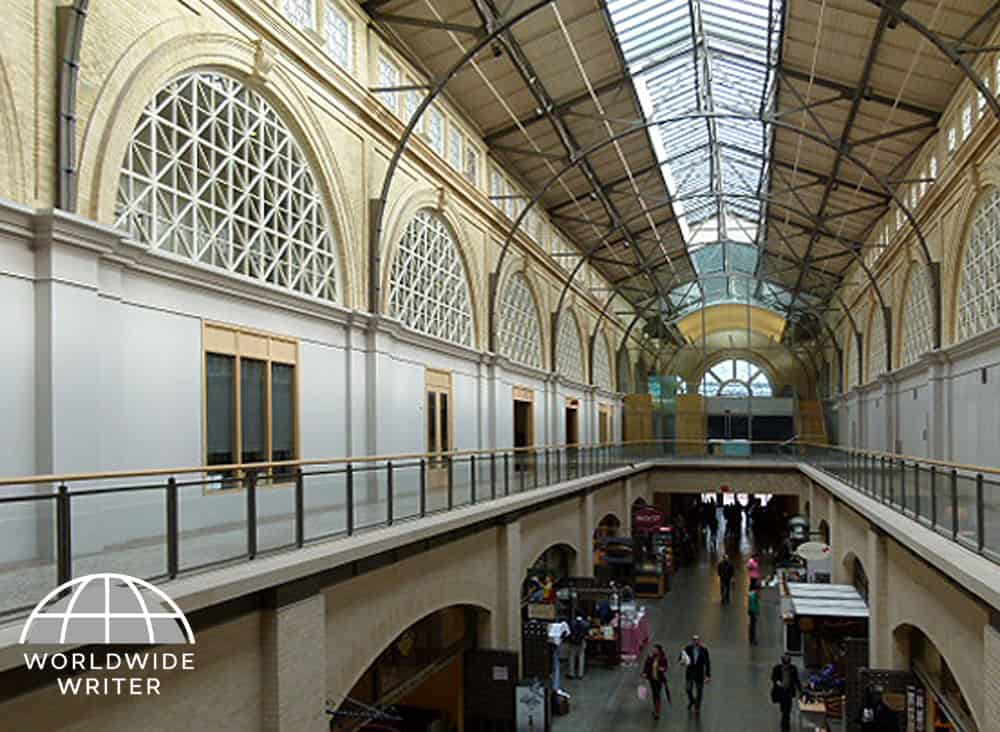 The historic hall of the Ferry Building