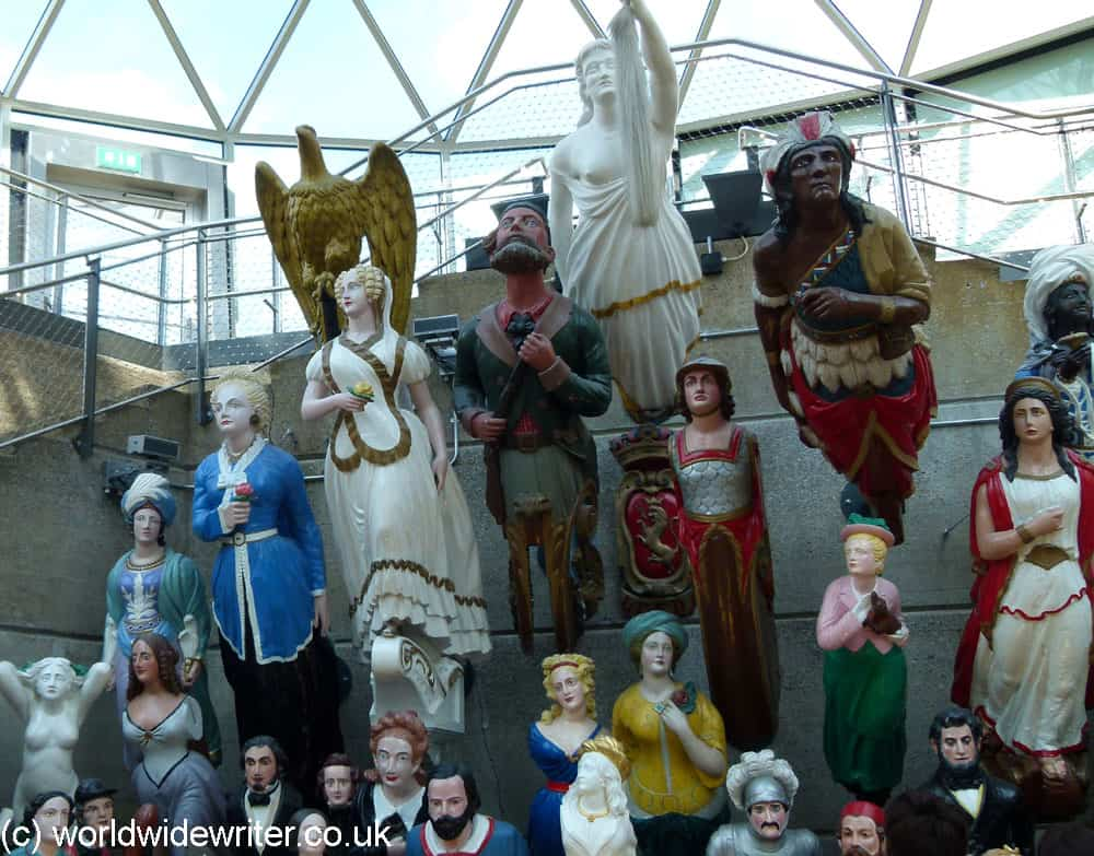 Ship's figureheads on the Cutty Sark