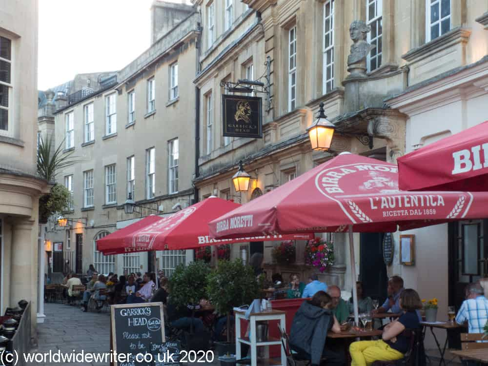 Tables outside the Garrick's Head