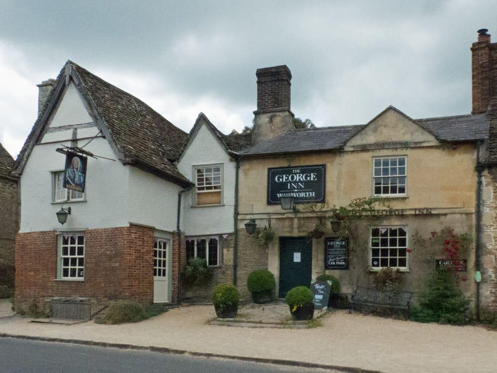 Geore Inn, an old pub in Lacock