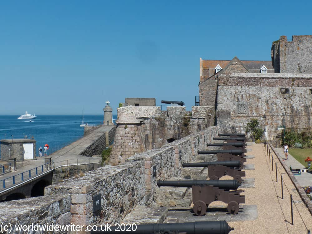 Old guns at Castle Cornet