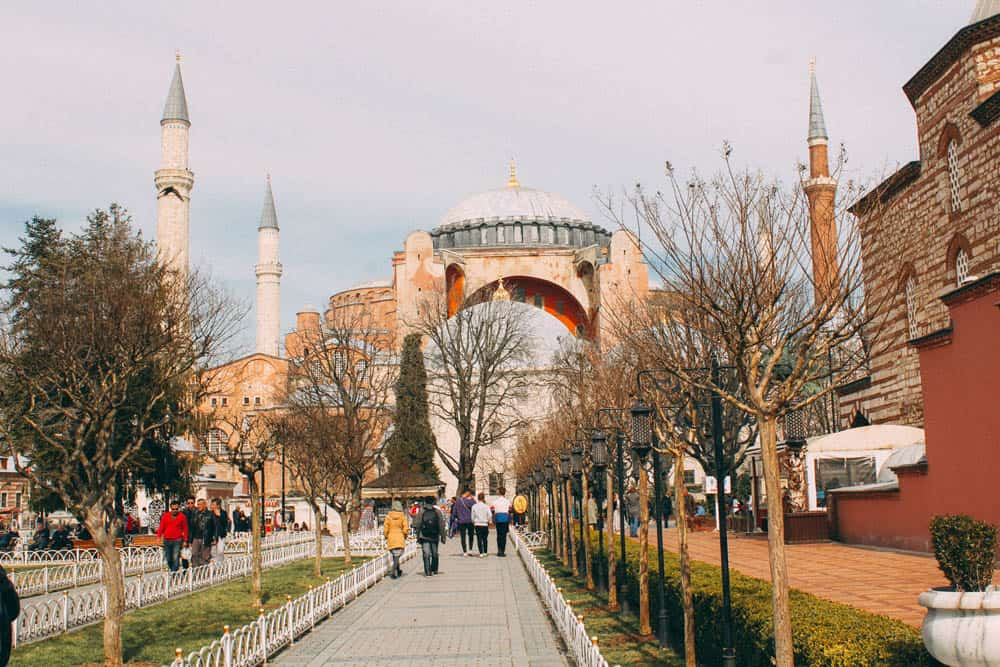 Road leading to Hagia Sophia