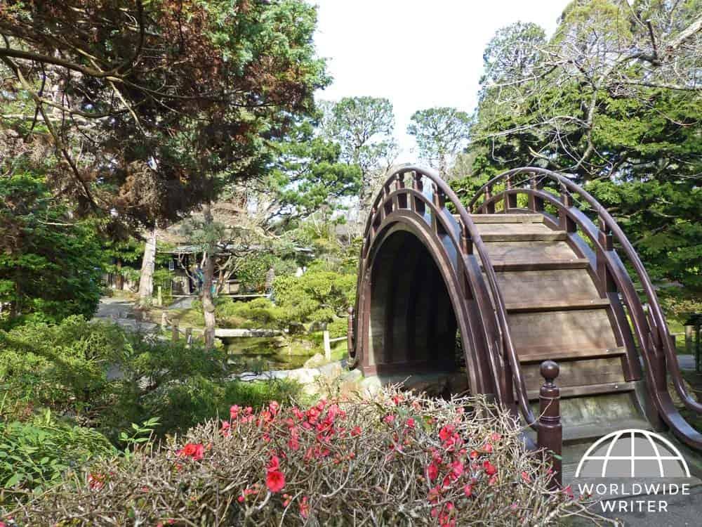 Barrel bridge in the Japanese Tea Garden