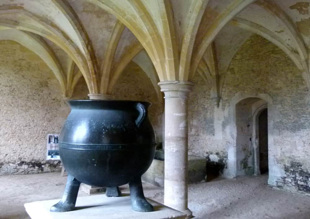 Cauldron in the vault of Lacock Abbey