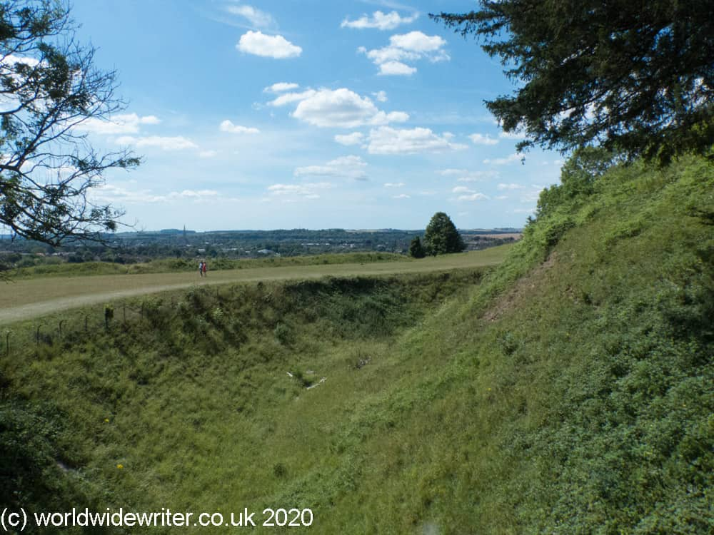 Mound and ditch at Old Sarum