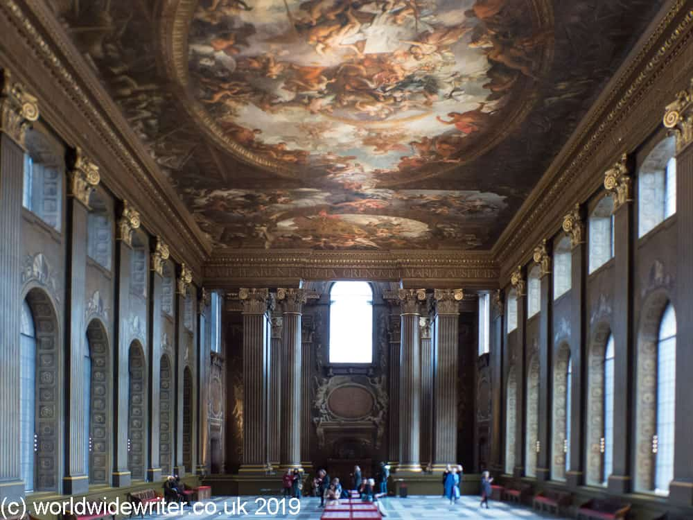 Walls and peinted ceiling of the Painted Hall