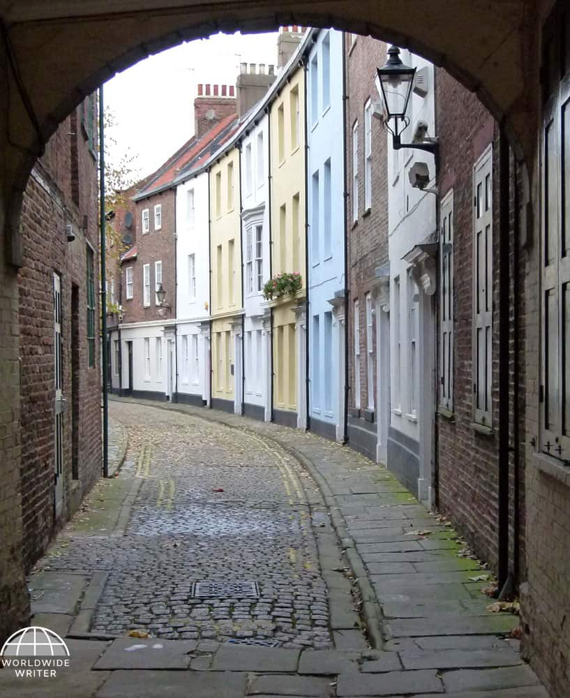 Archway leading to old houses in Hull, UK City of Culture 2017