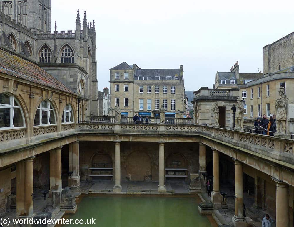 The Roman Baths with the Abbey