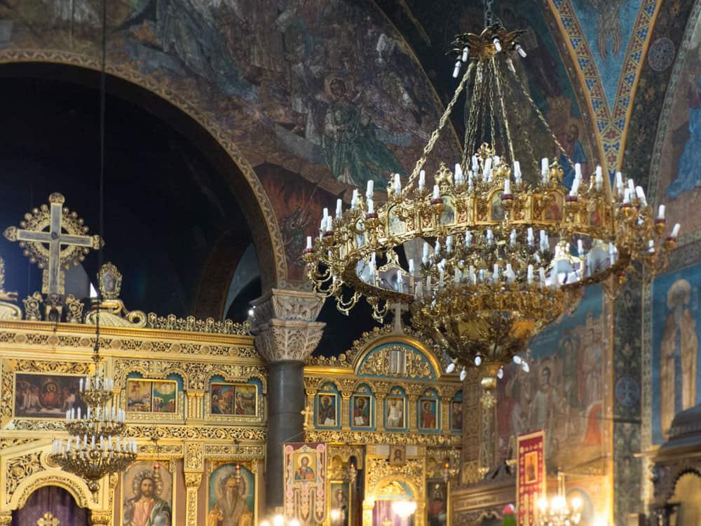 Ornate interior of Saint Nedelya Church