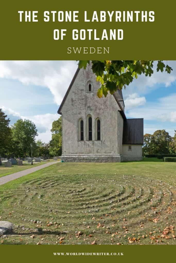 Labyrinth outside the church at Fröjel