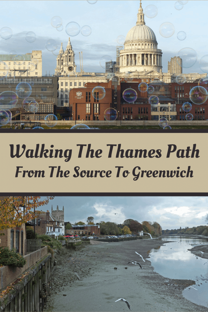 Walking the Thames Path - pinnable image