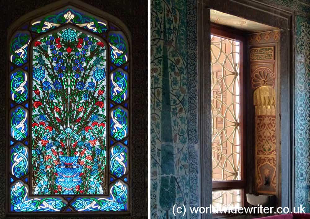 Colourful decor of the harem