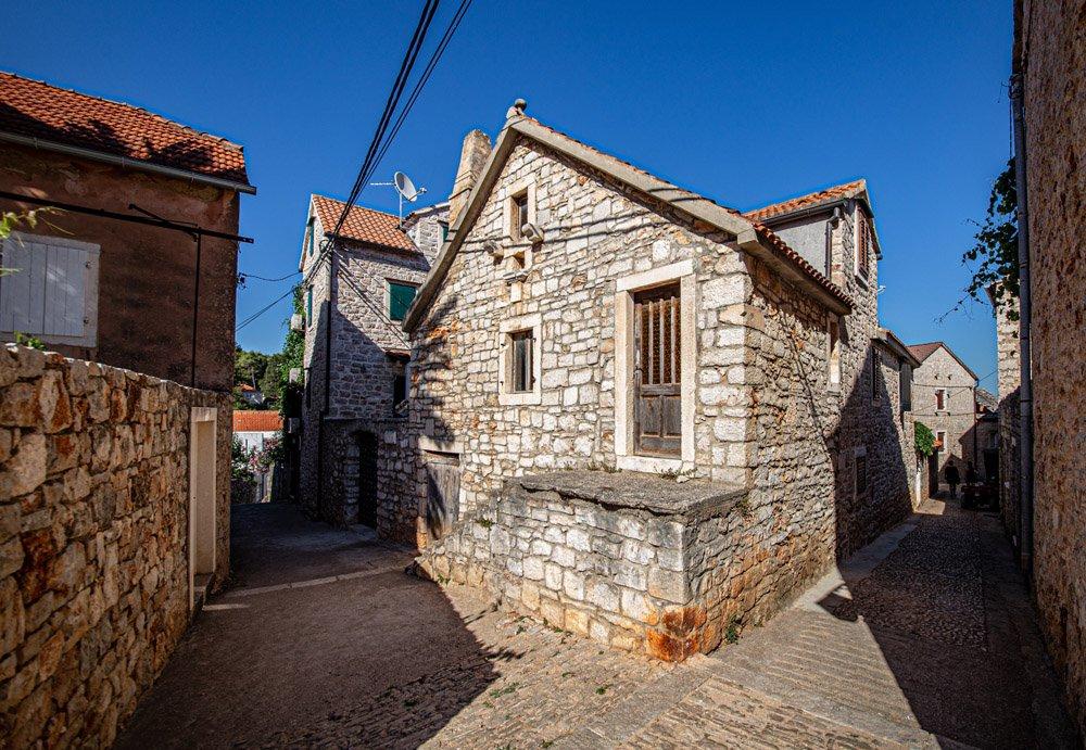 Group of old houses in Vrboska