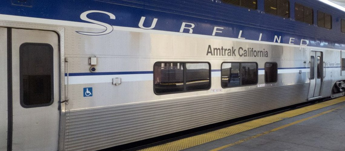 Amtrak train in Los Angeles