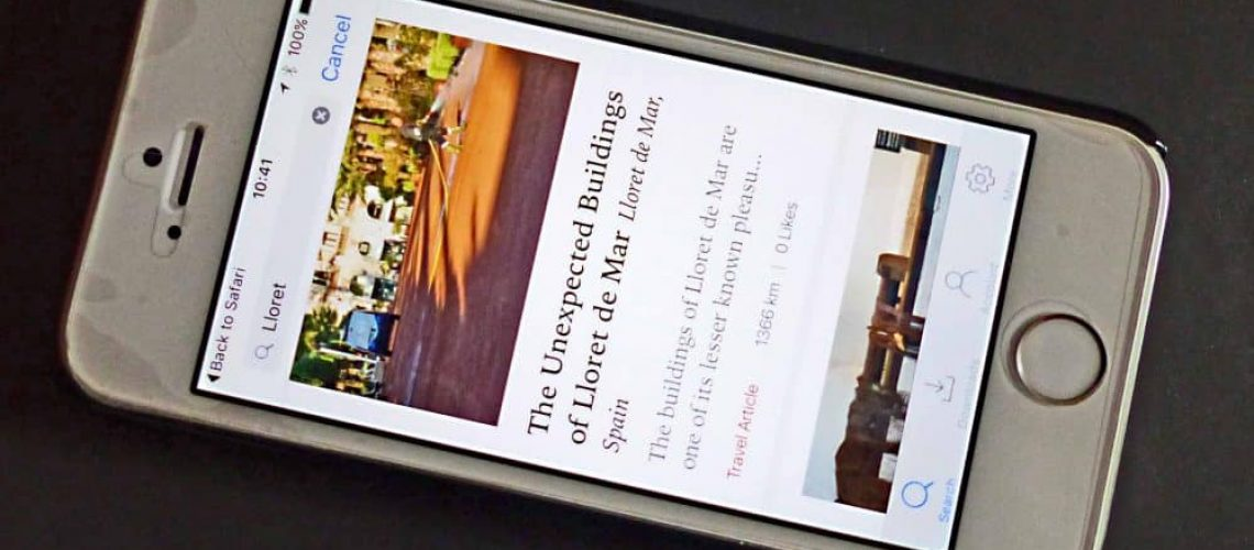 Lloret de Mar article apps