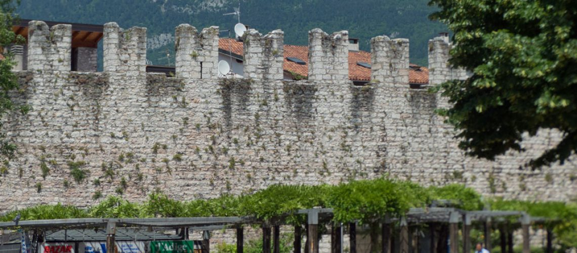 Medieval wall in Trento