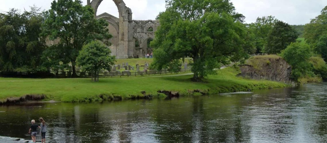 Stepping stones at Bolton Priory, Yorkshire - www.worldwidewriter.co.uk