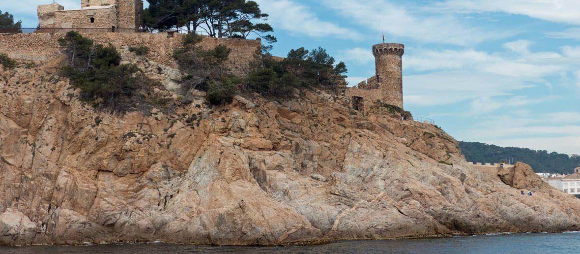 Tossa de Mar from the sea