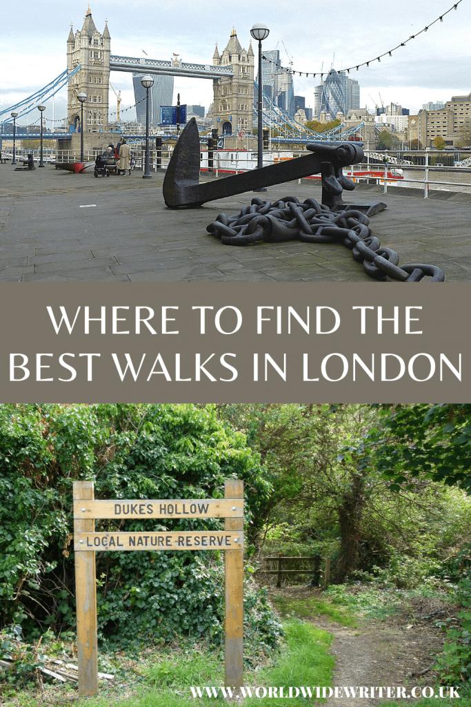 London walks: pinnable image
